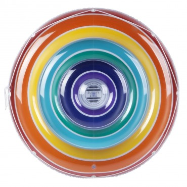 Grand matelas rond gonflable - Rainbow