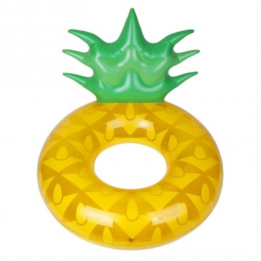 Bouée ronde gonflable - Pineapple