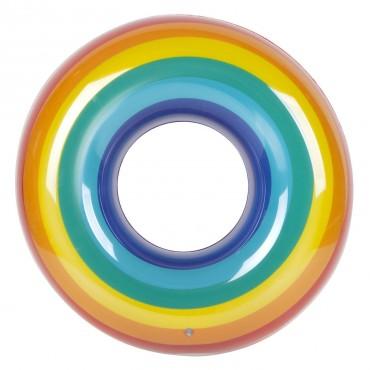 Bouée ronde gonflable - Rainbow