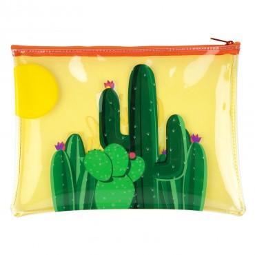 Pochette zippée - Cactus