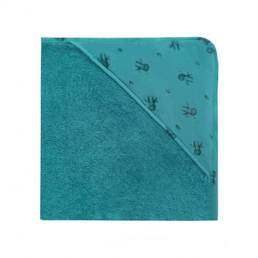 Cape de bain Colette - Poulpe / Bleu jean