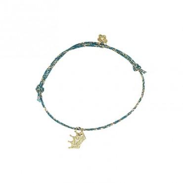 Bracelet Star - Couronne (pétrole)