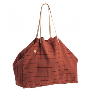 Grand sac shopping Oscar - Terracotta