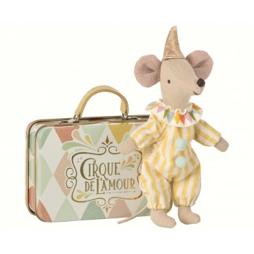 Petite souris Clown avec sa valise