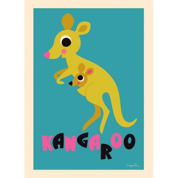 Poster Kangourou par Ingela P. Arrhenius