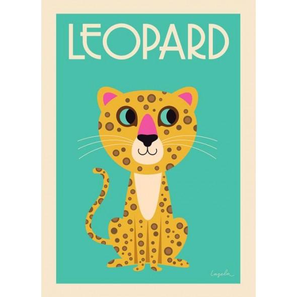 Poster Léopard par Ingela P. Arrhenius