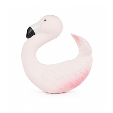 Bracelet anneau de dentition en latex - Flamingo