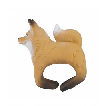 Bracelet anneau de dentition en latex - Fox
