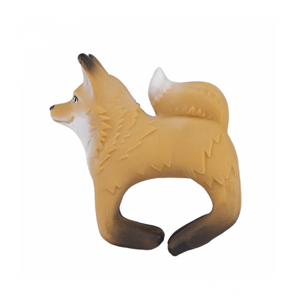 Bracelet anneau de dentition en latex - Fox