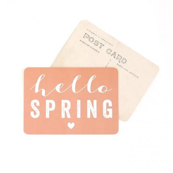 Carte Hello Spring - Pêche