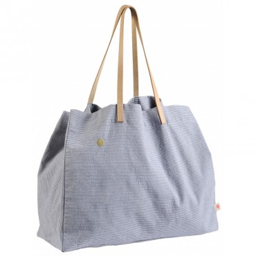 Grand sac shopping Finette - Indigo