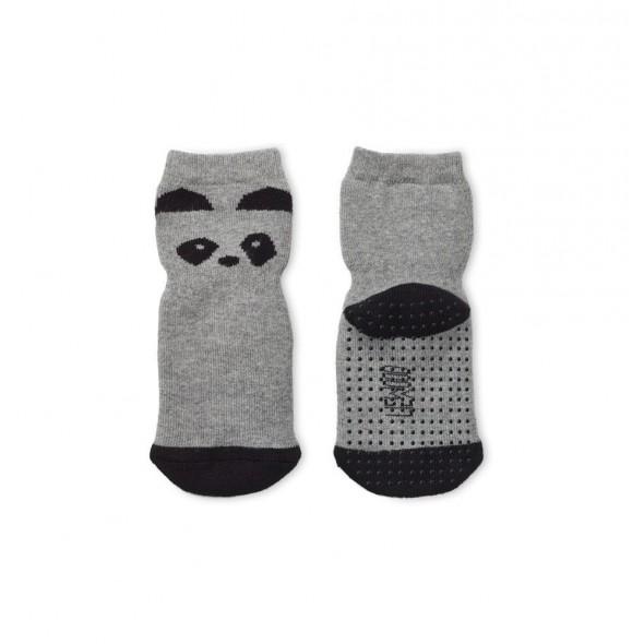 Chaussettes antidérapantes Nellie - Panda (gris)