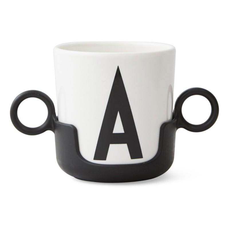 poign e pour tasse design letters noir design letters perlin paon paon. Black Bedroom Furniture Sets. Home Design Ideas