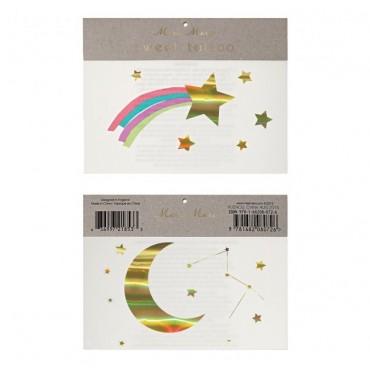 2 planches de tatouages éphémères - Constellation