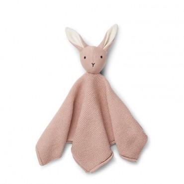 Doudou tricoté Milo - Rabbit / Rose