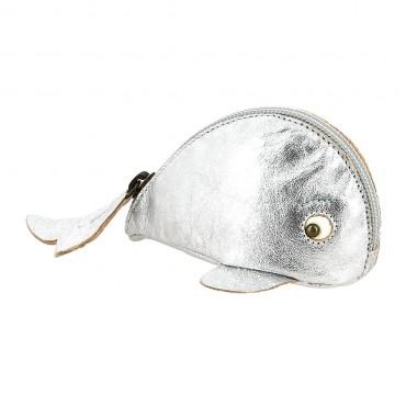 Porte-monnaie Baleine - Argent