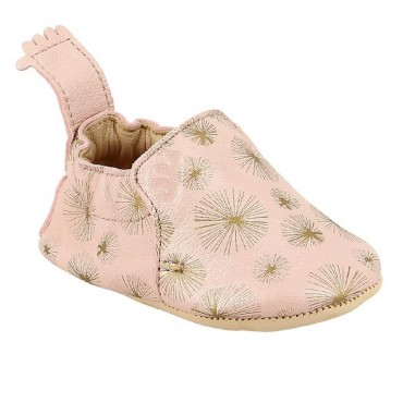 Chaussons Blumoo PanPan - Rose baba / Or
