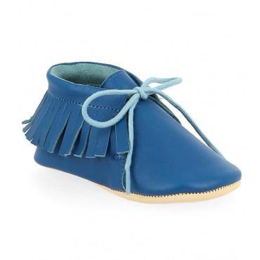 Chaussons Meximoo - Bleu cobalt