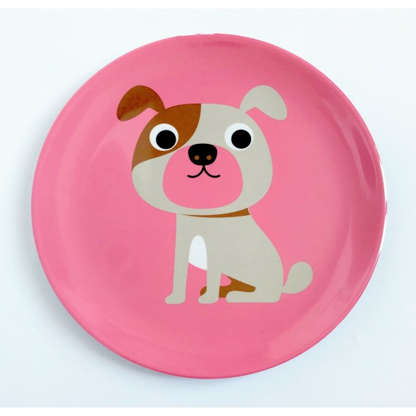 Assiette par Ingela P. Arrhenius - Pink dog