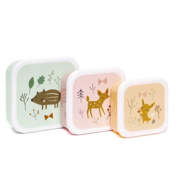 Set de 3 lunch box - Forest friends