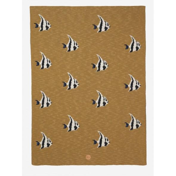 Plaid en coton Stripy  - Fish blanket