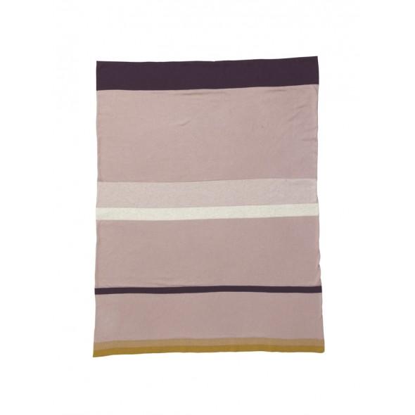 Plaid en coton Stripy  - Pink