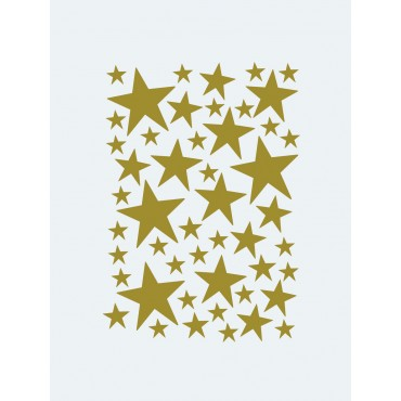 Sticker Mini Stars - Laiton
