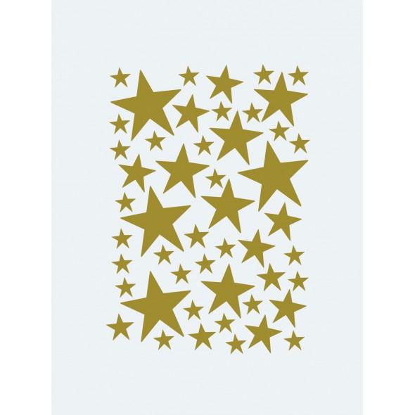 Sticker Mini Stars - Laiton