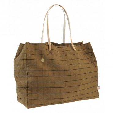 Grand sac shopping Oscar - Tabac