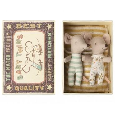 Bébé souris, sleepy-wakey dans une boite (jumeaux)