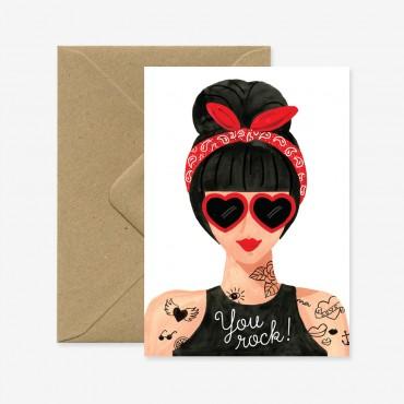 Carte - Hipster Girl