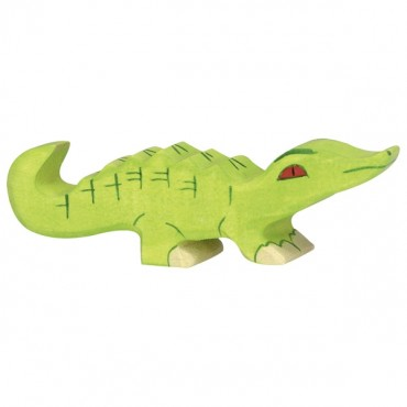 Animal en bois - Petit crocodile
