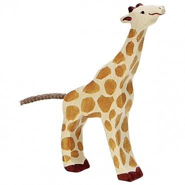 Animal en bois - Petite girage mangeant