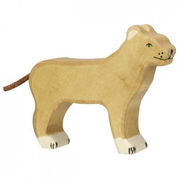 Animal en bois - Lionne