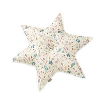 Coussin Star - Leaves rose