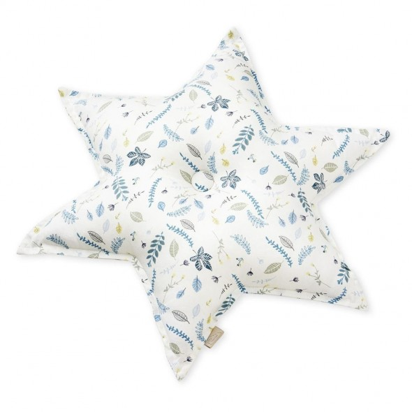Coussin Star - Leaves blue