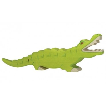 Animal en bois - Grand crocodile