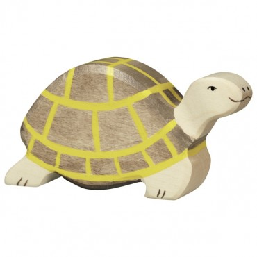 Animal en bois - Tortue marron