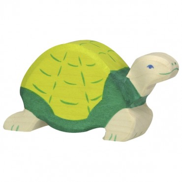 Animal en bois - Tortue verte