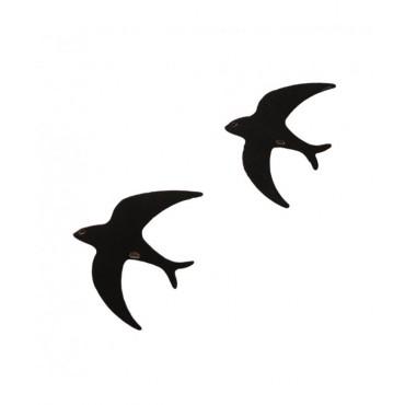 Hirondelle en bois - Noir