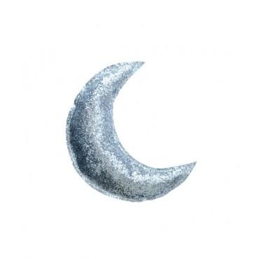 Lune pailletée - Argent