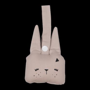 Hochet à suspendre - Bunny (mauve)