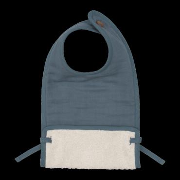 Bavoir en coton bio - Blue spruce