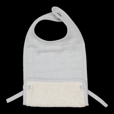 Bavoir en coton bio - Icy grey