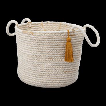 Panier en corde - Ocre