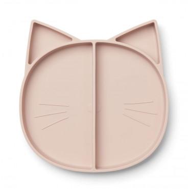 Assiette à compartiments Maddox - Cat (rose)