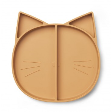 Assiette à compartiments Maddox - Cat (moutarde)