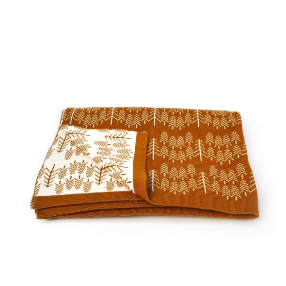 Couverture en tricot - Forrest Ochre
