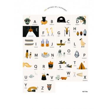 Affiche - Les lettres de l'alphabet (A3)