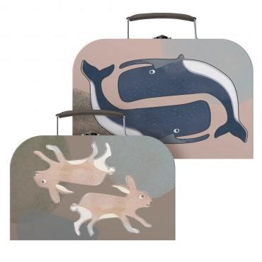 Set de 2 valisettes - Animaux de l'Arctique